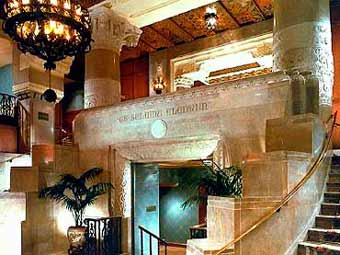 View of the Lobby of the Hotel Inter-Continental Chicago