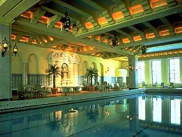 View of the Ornate Junior Olympic-Size Swimming Pool at the Hotel Inter-Continental Chicago
